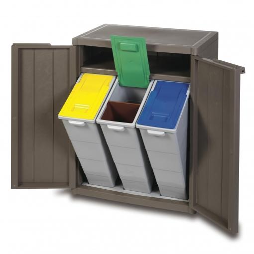 Armario Bajo para Reciclaje 65x45x88 cm