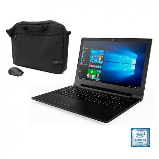 Portátil Lenovo Essential V110 con i3, 4GB, 500GB, 39,62 cm - 15,6'' con Pack Carrefour Maletín y Ratón