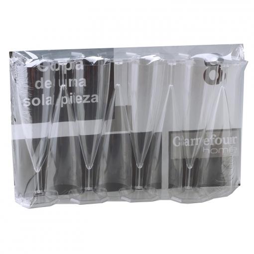 8 Copas Flauta de Plástico CARREFOUR HOME 4 e5ce7e1dd130