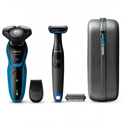 Afeitadora Philips S5050/64 Aqua Touch + Bodygroom BG105