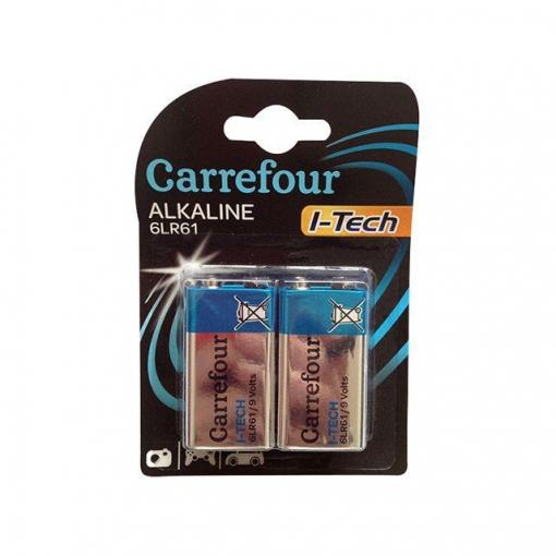 Padck de 2 Pilas Alcalinas I-Tech Carrefour 6lr61