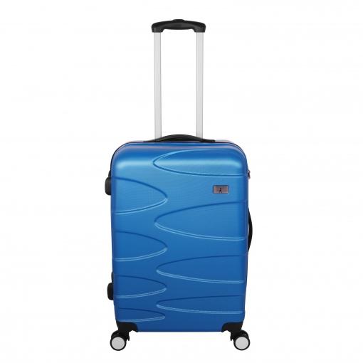 e07cb560c Trolley Grande 4 Ruedas Dobles ABS con Cierre TSA, Azul   Las ...