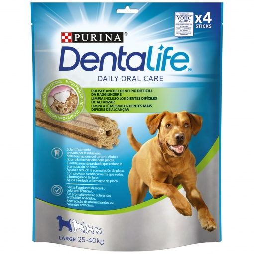 Purina Dentalife Snacks para Perro Grande 142g - 4 Sticks