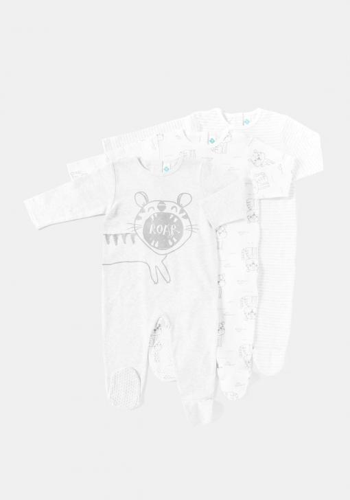 Pack tres pijamas de manga larga Unisex TEX