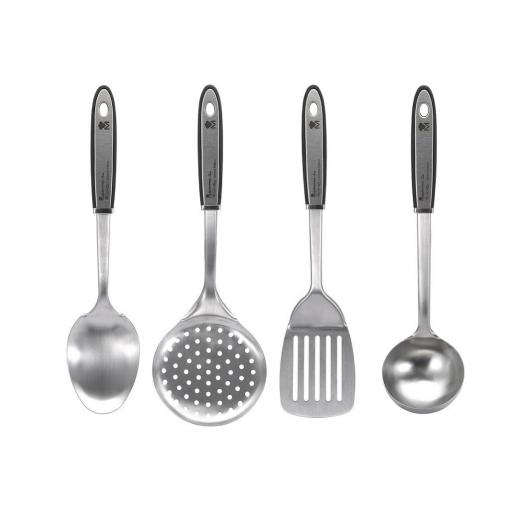 Set de 4 utensilios de cocina de acero inoxidable - Utensilios de cocina industrial ...