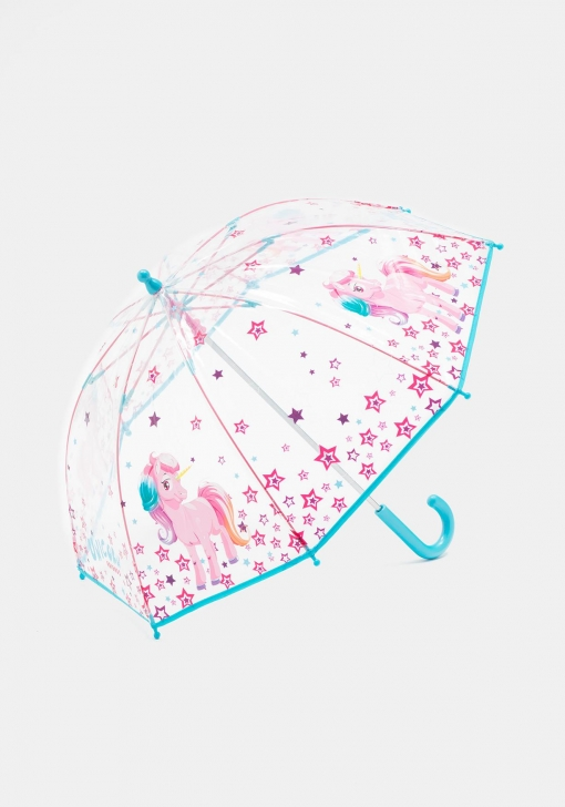 precio atractivo más fotos 100% de garantía de satisfacción Paraguas transparente con unicornio PERLETTI