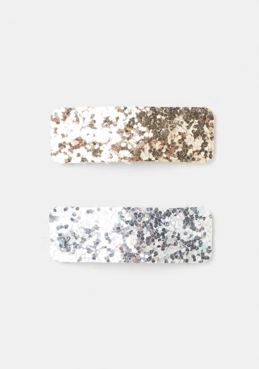 Pack de dos pasadores glitter
