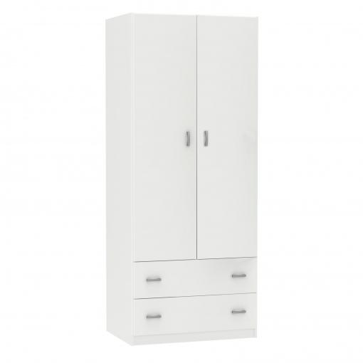 Armario Puertas Y Cajones Carrefour Home Milan180x74x52 Cm Blanco