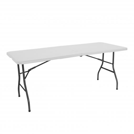Mesa resina plegable rectangular 180 x 75 x 74 cm rdm for Mesas de camping plegables carrefour