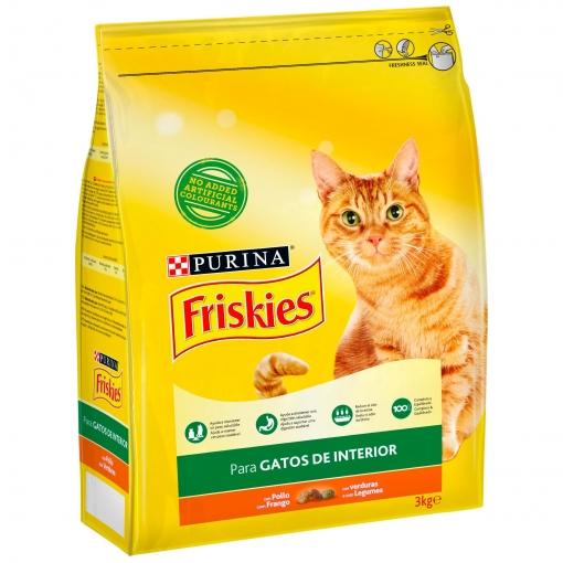 Purina Friskies Pienso Para Gato Control Bolas De Pelo Gato De Interior Pollo Y Verduras 3kg Las Mejores Ofertas De Carrefour