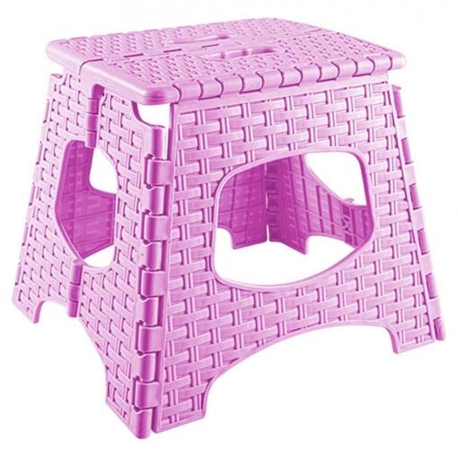 Mini taburete resina plegable 22X34,5 cm