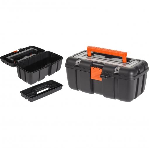 Caja Herramientas Plástico Naranja 25x15 Cm