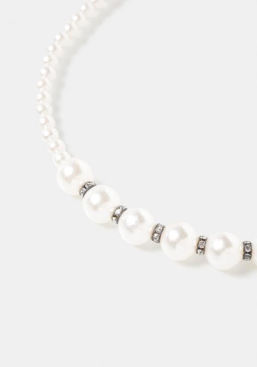 Diadema con perlas