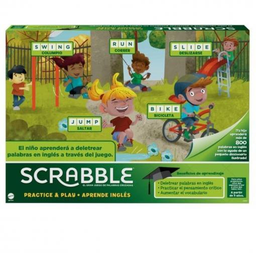 Mattel Games Scrabble Aprende Ingles Juego Mesa Las Mejores
