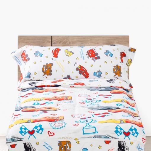 Edredon Nordico Disney.Pack De Saco Nordico Infantil 4 Piezas De Microfibra Disney 90 Cm