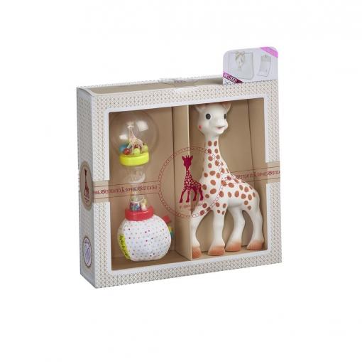 Set de Sonajero y Peluche Sophie La Girafe