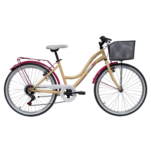 Bicicleta 24P Girl Cuadro Acero 6Vel Portabultos