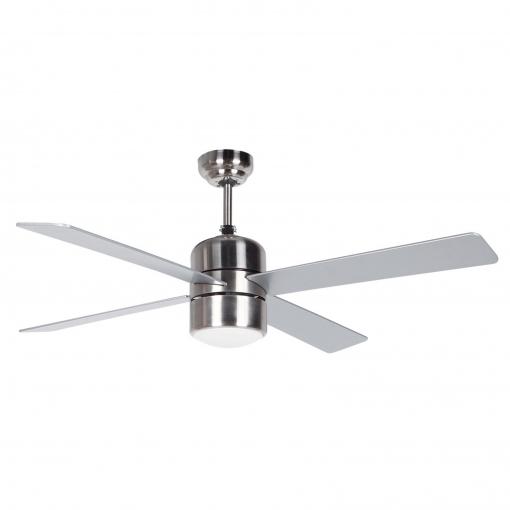Ventilador De Techo Con Luz Y Mando De Metal 4 Aspas Orbdegozo Mod