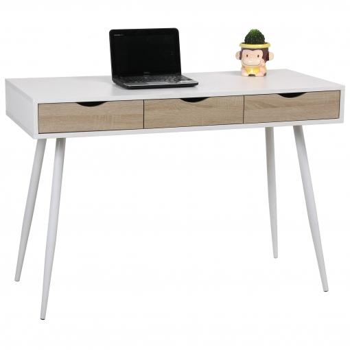 Mesa escritorio con tapa y 3 cajones eurosilla bicolor for Mesa escritorio carrefour