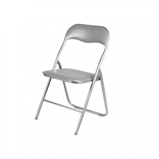 Silla plegable de metal gris las mejores ofertas de for Ofertas de sillas de oficina en carrefour