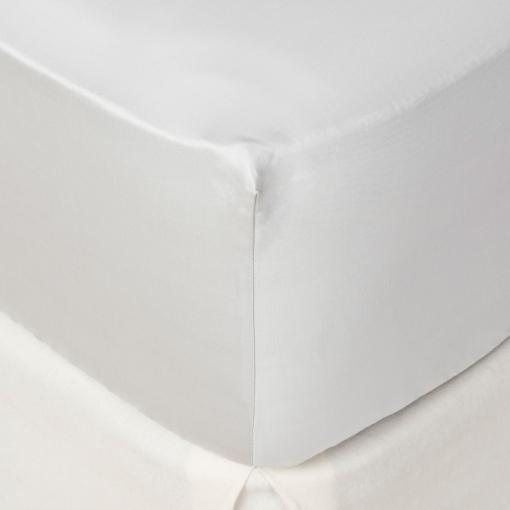 Sábana Bajera Ajustable de Algodón Peinado TEX HOME Satén Cama 150 cm