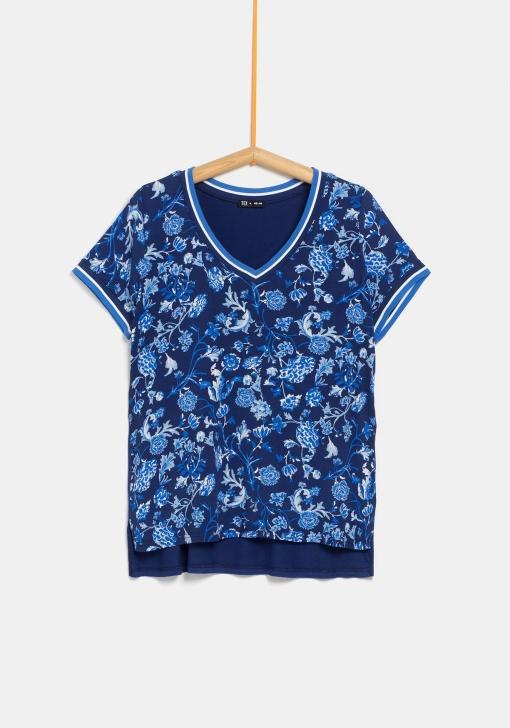 Blusa Estampada De Tallas Grandes Para Mujer Tex Las Mejores Ofertas En Moda Carrefour Es