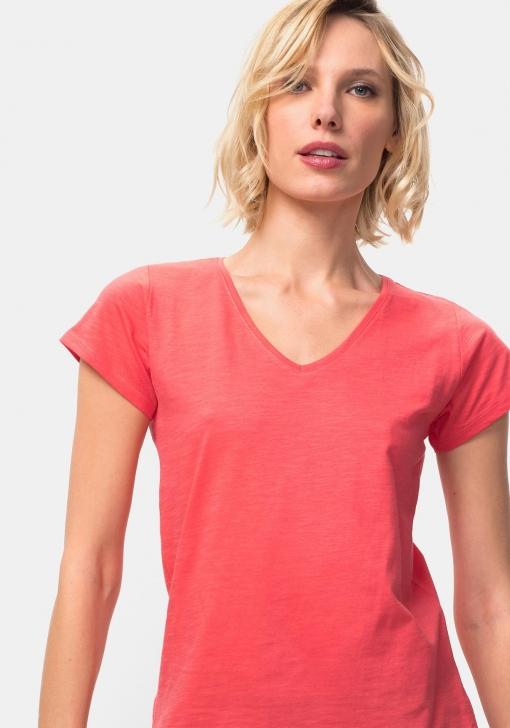 Camiseta manga corta lisa para Mujer TEX