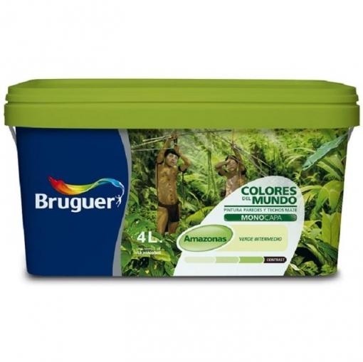 Pintura Bruguer Colores del Mundo Amazonas Verde Intermedio 4 L ...