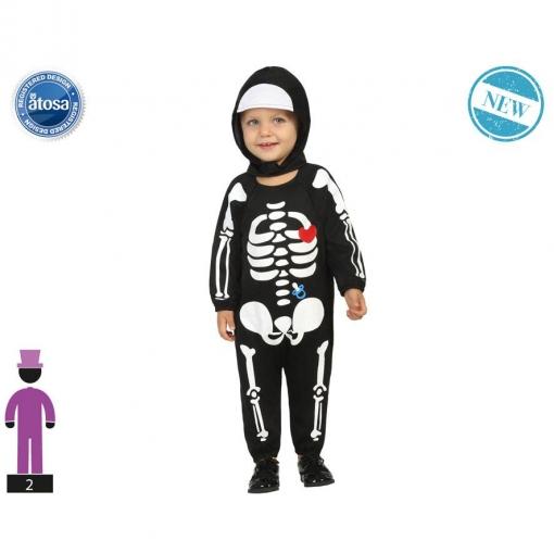 Disfraz Esqueleto Talla +24 Meses