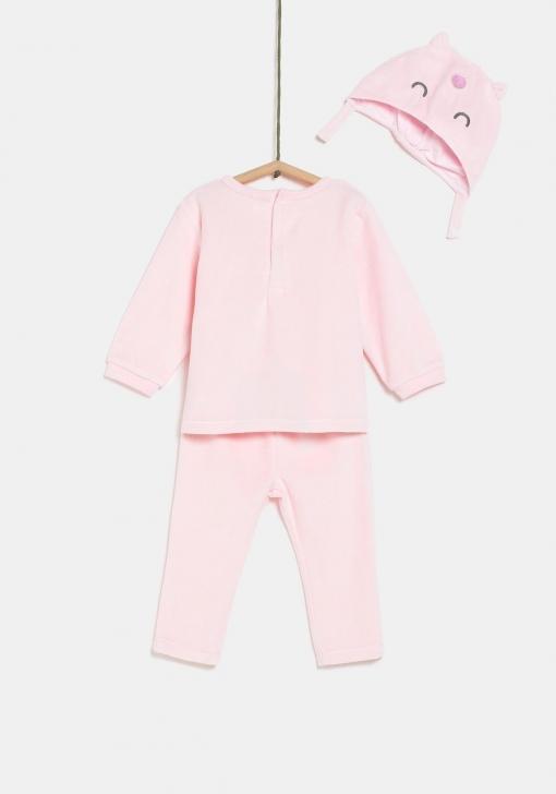 Pijama dos piezas terciopelo con gorrito Unisex TEX