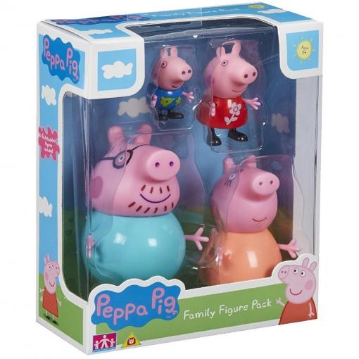 Bandai Pack 4 Figuras Familia Peppa Pig Las Mejores Ofertas De