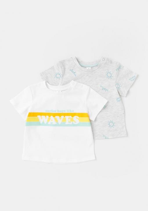 Pack dos camisetas estampadas de Bebé TEX
