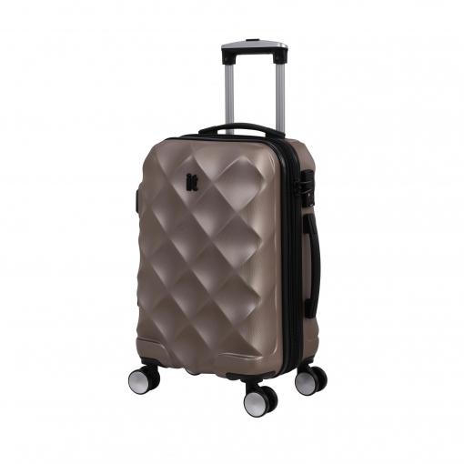 Maleta Trolley It Luggage Diamond 55 Cm 8 Ruedas Rigida Abs Oro