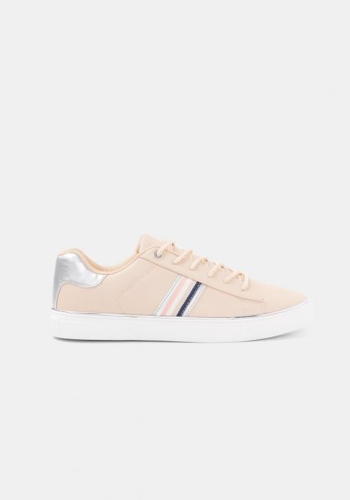 Zapatos planos con detalles en plata para Mujer TEX
