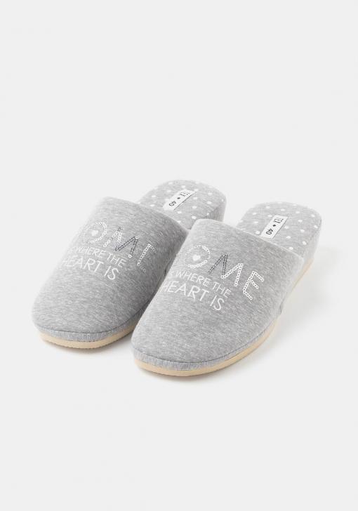 Zapatillas de estar por casa letras para Mujer TEX