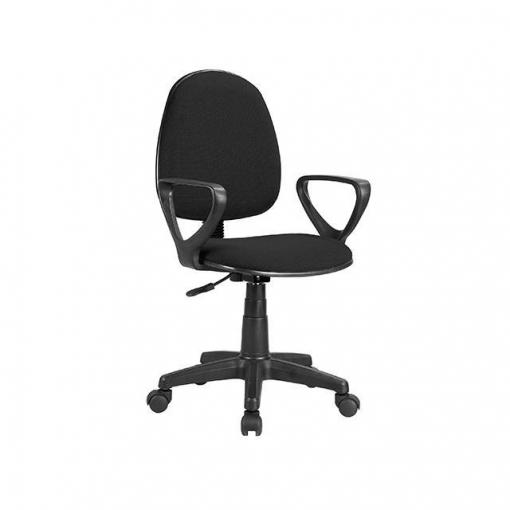 Silla giratoria con brazos mod danfer negro las for Ofertas de sillas de oficina en carrefour