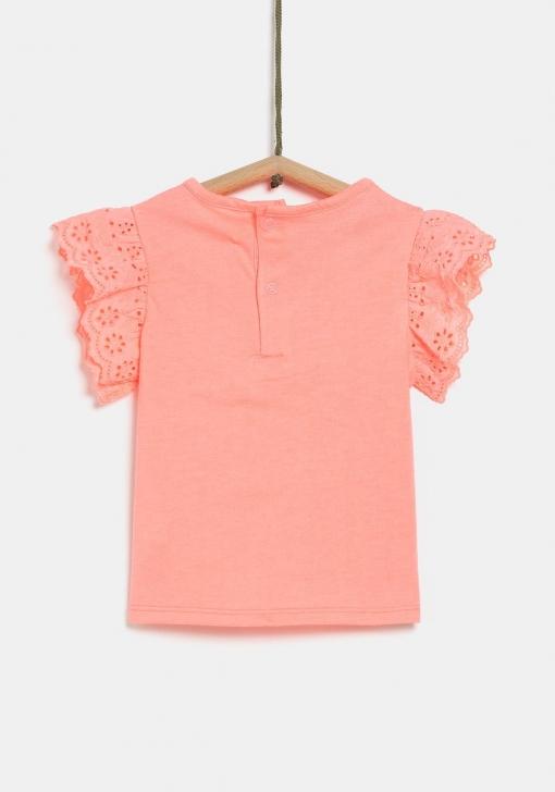 Camiseta mangas bordadas de Bebé TEX
