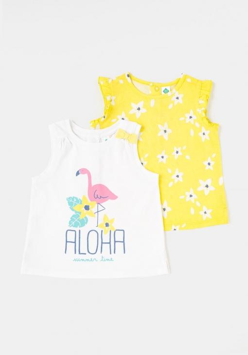 Pack dos camisetas sin mangas para Bebé TEX