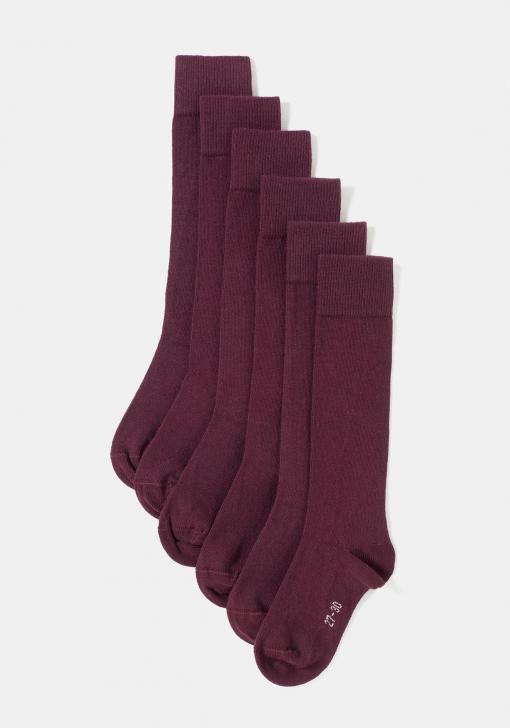 disfruta el precio de liquidación chic clásico buena textura Pack de tres calcetines altos unisex para uniforme (tallas 24 a 41) TEX