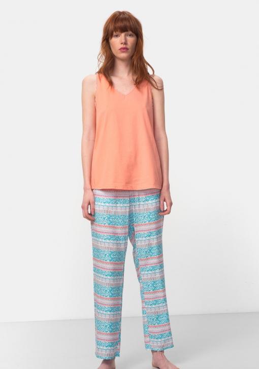 Pantalón fluido de pijama para Mujer TEX