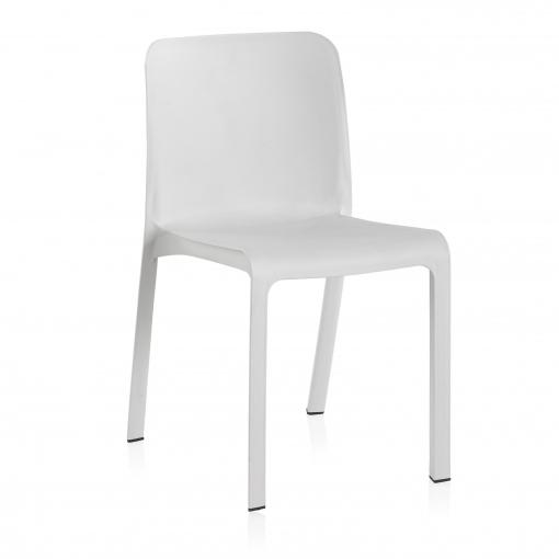 silla blanca carrefour