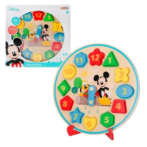 Woomax - Reloj de Madera para Niños Mickey&Minnie Disney Baby