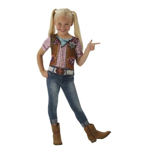 Camiseta Cowgirl Infantil 5 a 7 Años
