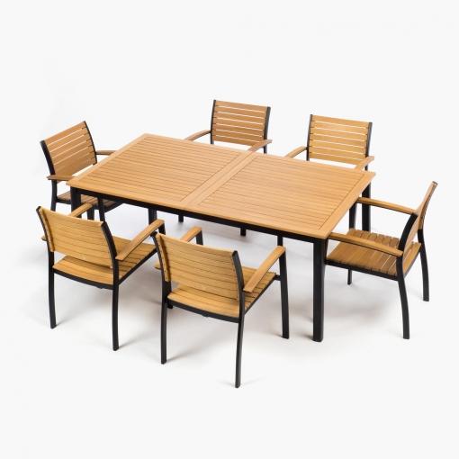 Comedor mesa 6 sillas pantera las mejores ofertas de for Mesas y sillas de comedor en carrefour