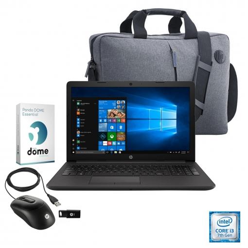 """Portátil HP 250 G7 con i3, 4GB, 500GB, 39,62 cm - 15,6"""" con Maletín HP + Ratón HP + USB HP 32GB + Panda Antivirus"""