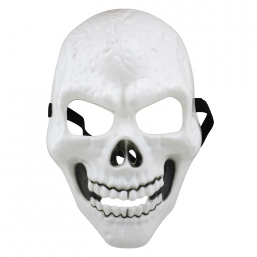 Mascara Calavera Blanca Pvc | Las mejores ofertas de Carrefour