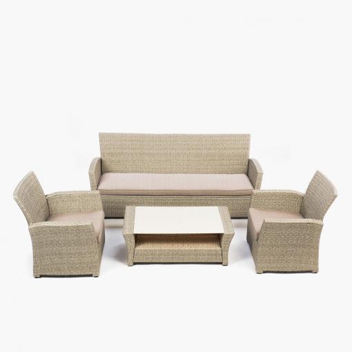 Conjunto mesa 2 sillones sof asturias las mejores for Juego de jardin carrefour