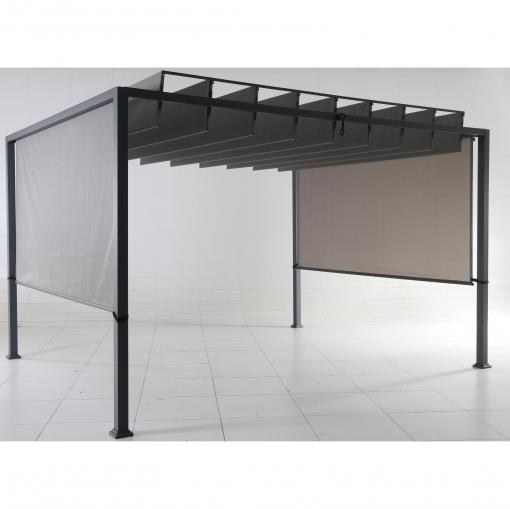 P rgola techo 3x3 6 gris las mejores ofertas de carrefour - Carrefour pergola ...