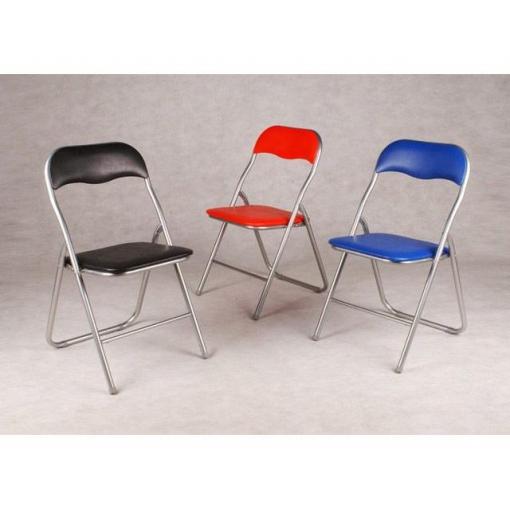 Silla plegable de metal azul las mejores ofertas de for Oferta sillas plegables