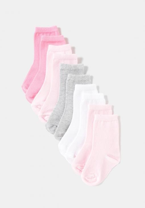 Pack de cinco calcetines lisos unisex